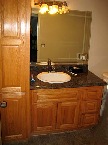 solid wood custom bathroom cabinets