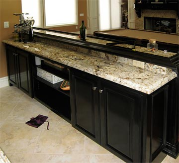 custom, wet bar, molding