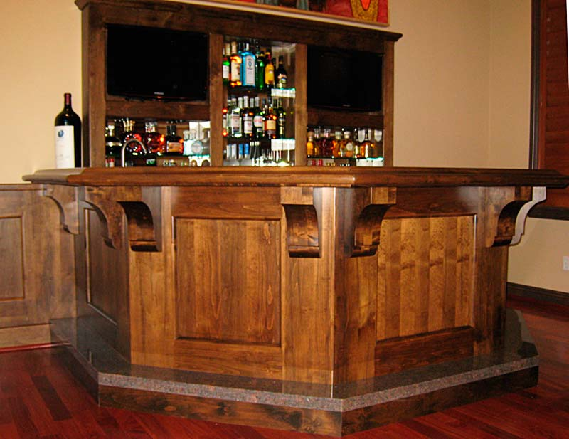 Custom Wet Bar Cabinetry