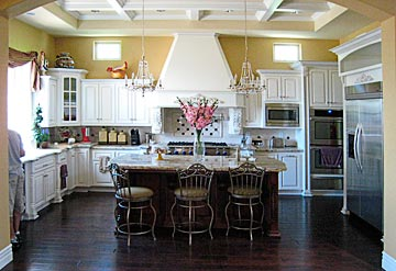 white solid wood cabinets