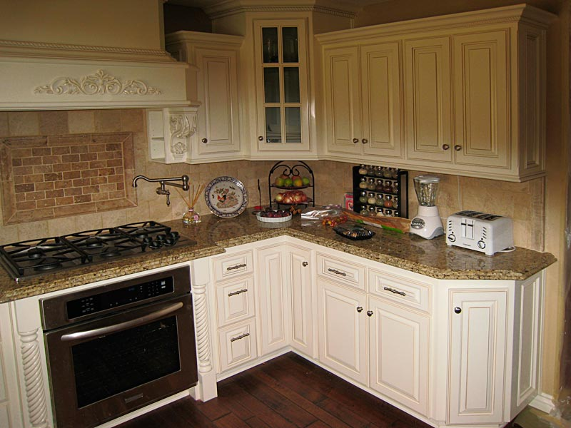 Custom kitchen cabinets for Angled kitchen cabinets