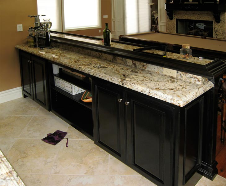 custom wet bar, cabinetry
