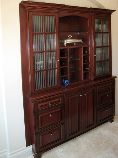 hutch with wine rack