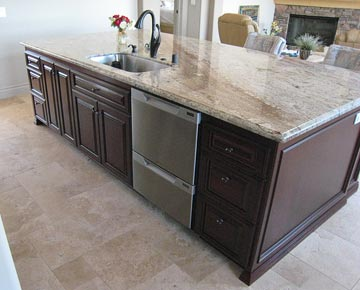 Solid Wood Kitchen Cabinets Kitchen Island With Electrical Outlet