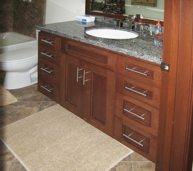 spacious bathroom vanity
