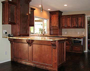 custom crafted kitchen island
