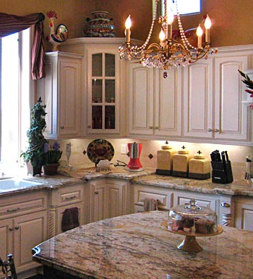 Corner Kitchen Cabinets With Glass Doors