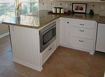 counter top, cabinets