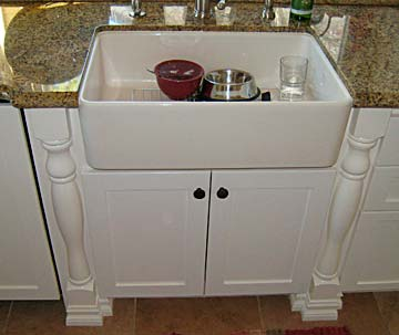 custom tooling handturned molding not your mothers kitchen sink - Sink Cabinet Kitchen