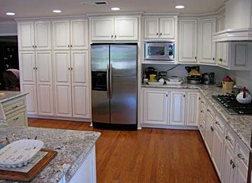 White Custom Kitchen, Granite