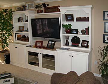 Bookcase Tv Center Custom Shelving